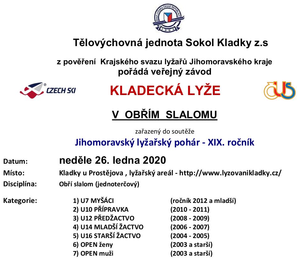 plakát kladecká lyže 2020