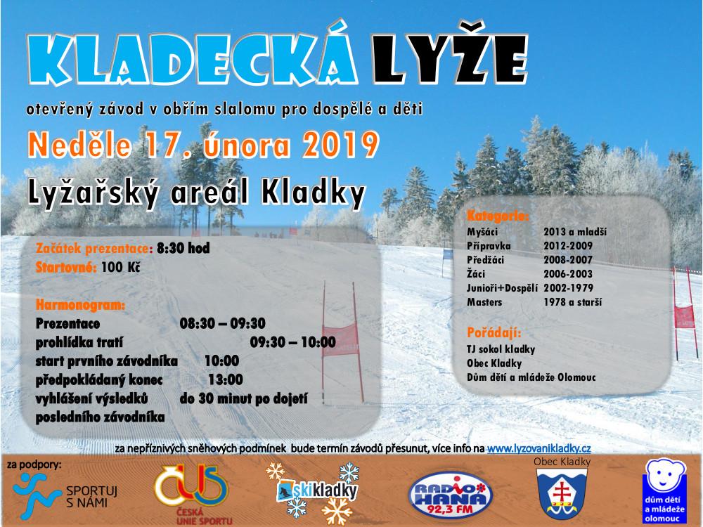 plakát kladecká lyže 2018